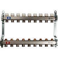 Коллектор Penoroll для отопления с отсечными клапанами, латунный, на 3 выхода