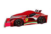 Кровать машина Ferrari с матрасом, спойлером и подушкой Детская кровать машина ферари Серия Elite