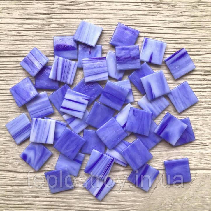 Скляна мозаїка Eco-mosaic з кольоровими прожилками 2х2см 20Y36