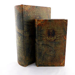 Шкатулка книга набор из 2 шт  Леонардо 22 см