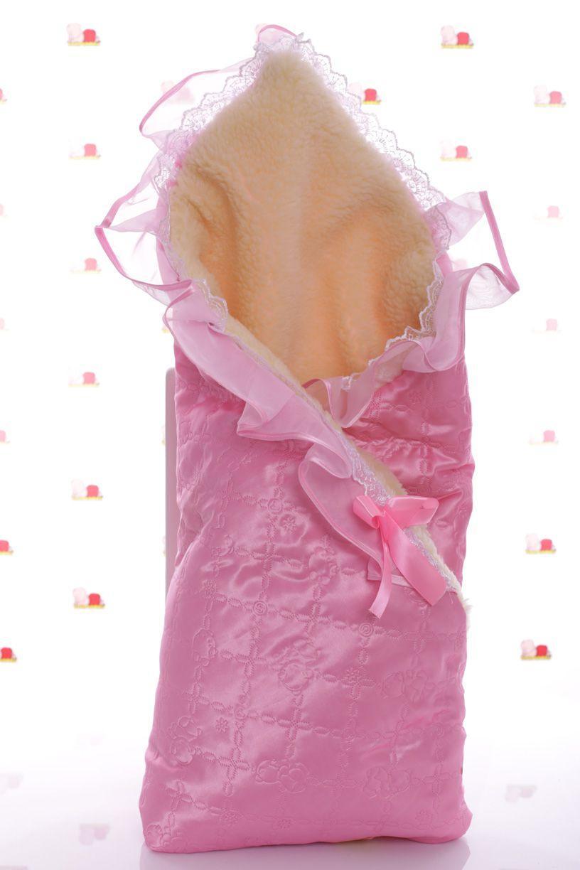 Конверт на выписку на меху розовый