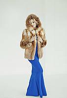 Полушубок из меха лисы с капюшоном, фото 1