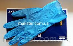 Нитриловые перчатки Akzenta небесно голубые 100 шт