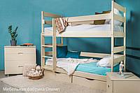 Кровать из бука детская двухъярусная Ясна