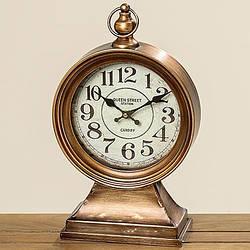Часы настольные Паддингтон медные h 40 см