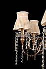 Классическая люстра на 6 лампочек СветМира VL-41310/6  (коричневая), фото 2