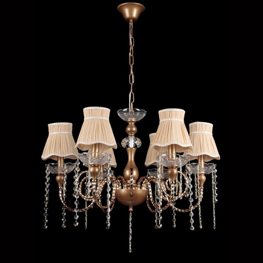 Классическая люстра на 6 лампочек СветМира VL-41310/6  (коричневая)