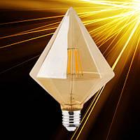 Светодиодная лампа Horoz RUSTIC PYRAMID-6 6W Filament LED E27