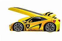 Кровать машина Lamborghini с матрасом, спойлером и подушкой Детская кровать машина ламборджини Elite