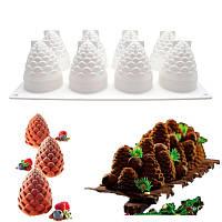 """Силиконовая форма для евродесертов, """"Шишки"""" форма для муссовых тортов и десертов"""