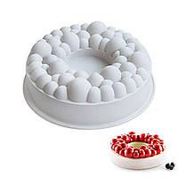 """Силиконовая форма для евродесертов, """"Bubble crown"""" форма для муссовых тортов и десертов"""