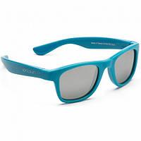 Детские солнцезащитные очки Koolsun голубые серии Wave (Размер: 1+) (KS-WACB001)