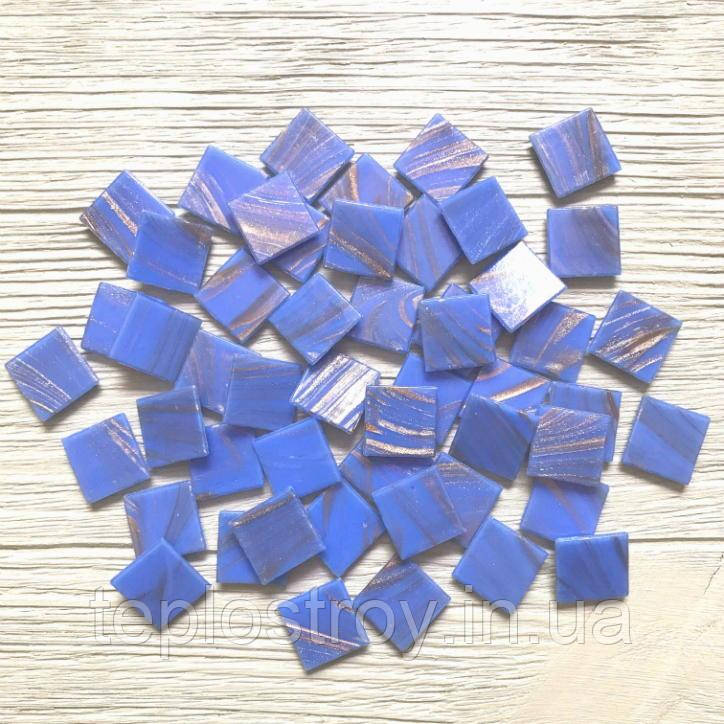 """Скляна мозаїка Eco-mosaic серія """"Авантюрин"""" 2х2см 20Z15"""