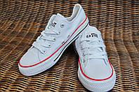 27, 28 рр Детские и подростковые кеды конверсы AIL STAR в стиле Converse белые