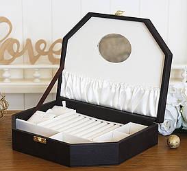 Шкатулка для ювелирных украшений Трапеция коричневая