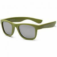 Детские солнцезащитные очки Koolsun цвета хаки серии Wave (Размер: 3+) (KS-WAOB003)