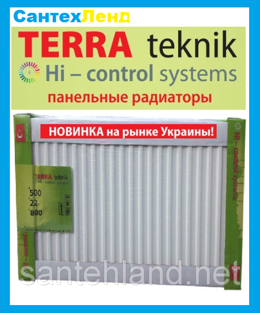 Стальной Панельный Радиатор Terra Teknik 22 300x800 Боковое Подключение