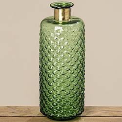 Ваза бутылка Stratos зеленое стекло h39 см