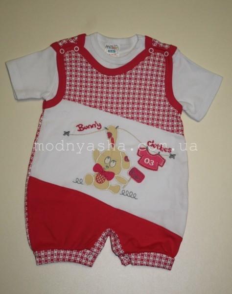 Комбінезон з кофточкою для дівчинки 6-9 місяців