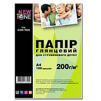 Фотобумага NewTone Глянцевая 200г/м кв, А4, 100л (G200.100N)