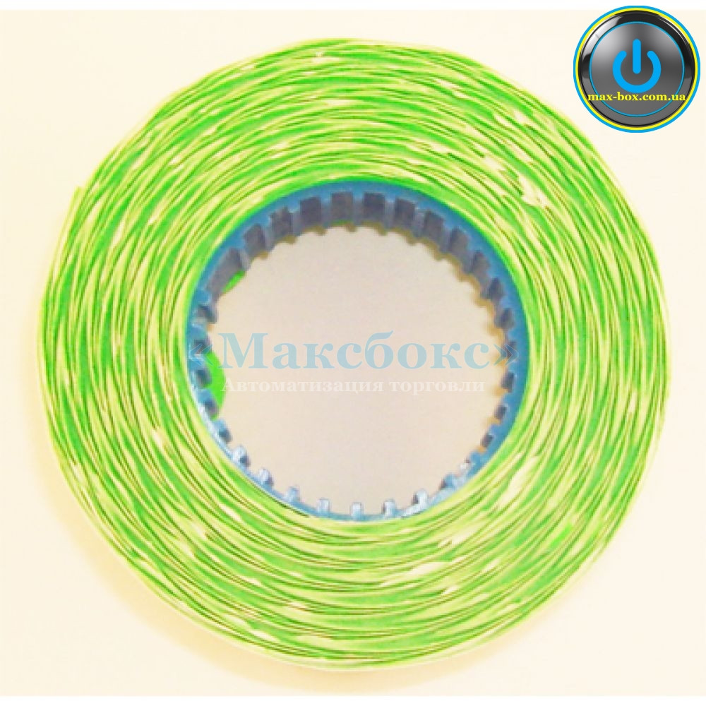 Этикет-лента 26 х 12 фигурная зелёная