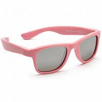 Детские солнцезащитные очки Koolsun нежно-розовые серии Wave (Размер: 3+) (KS-WAPS003)