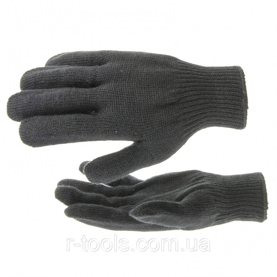 Перчатки трикотажные акрил черный оверлок Сибртех 68651