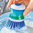 Щетка для мытья посуды с дозатором, фото 2