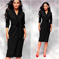 Черное платье-плащ Bella (Код 400) Реплика