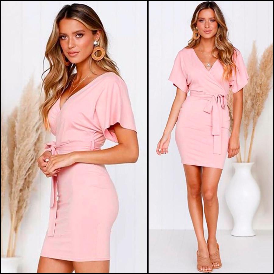 Розовое спортивное платье Teresa (Код 418) Реплика