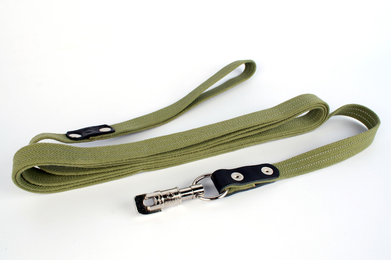 Поводок Collar х/б тесьма, зеленый, ширина 3,5 см