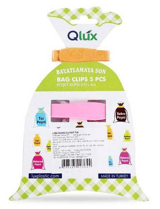 Набор клипс для пакетов пласт Qlux MIX 10х7 см (L-00364), фото 2