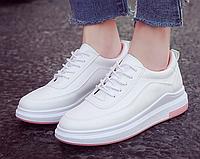 Кроссовки женские Classic Белые с розовым 38 размер маломерки