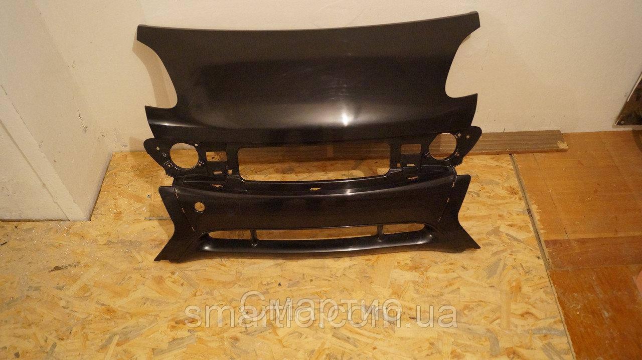 Бампер передний (черный) новый Smart ForTwo City-Coupe 450 98-2002 BLIC 5510-00-3502900P