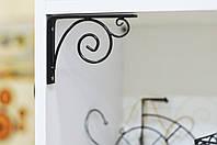 Кронштейн кутник / консоль для полички Fibona Хвиля 13х10 см