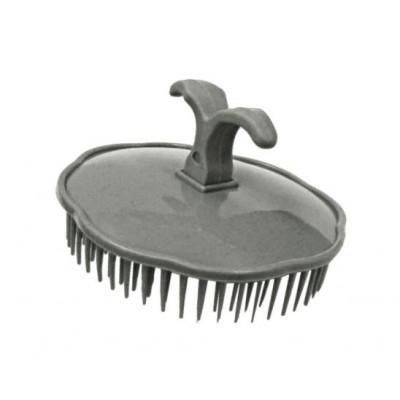 Массажная щетка для шампунирования TICO Professional серая