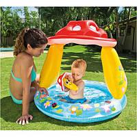 ✅Надувной бассейн детский с навесом Intex 57114 Грибочек