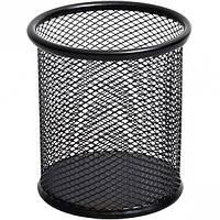 Стакан для ручек металлический сетчатый, черный