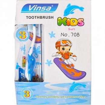 Зубные щётки детские «Vinsa Soft» 15 см дельфин, с 3-х лет  708, фото 2