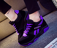 Кроссовки женские Air Черный c фиолетовым 38 размер