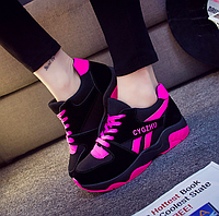 Кроссовки женские Air Черный c розовым 38 размер
