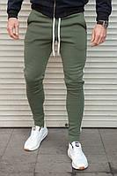 Мужские утепленные спортивные штаны с лампасом