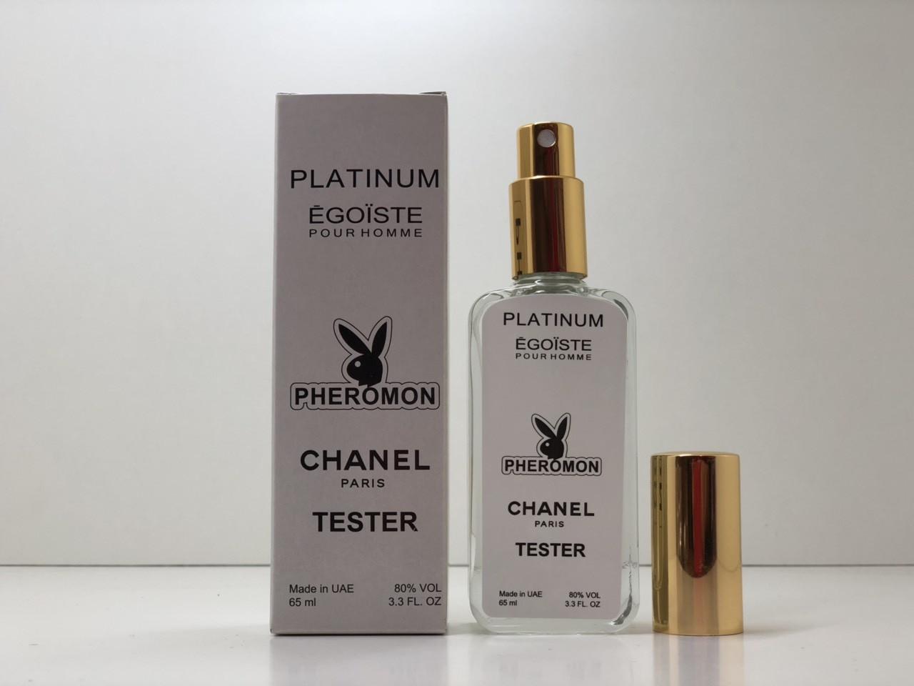 Тестер с феромонами мужской Chanel Egoiste Platinum (Шанель Эгоист Платинум) 65 мл