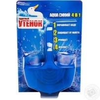 Очиститель для унитаза Туалетный утенок Aqua 4в1 подвесной синий 40г