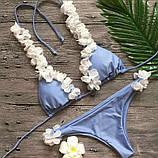 Женский Купальник раздельный голубой, фото 4