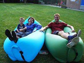Надувное кресло-лежак зеленое