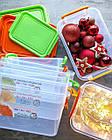 Набір пластикових контейнерів з ручками 0,85+1,6+3л (прямокутний), СЕРЕДНІЙ, НП (арт. №59), фото 5