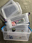 Набір пластикових контейнерів з ручками 0,85+1,6+3л (прямокутний), СЕРЕДНІЙ, НП (арт. №59), фото 7