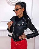 Женская куртка-косуха из экокожи, модная куртка-косуха экокожа, женская косуха, женская косуха экокожа.
