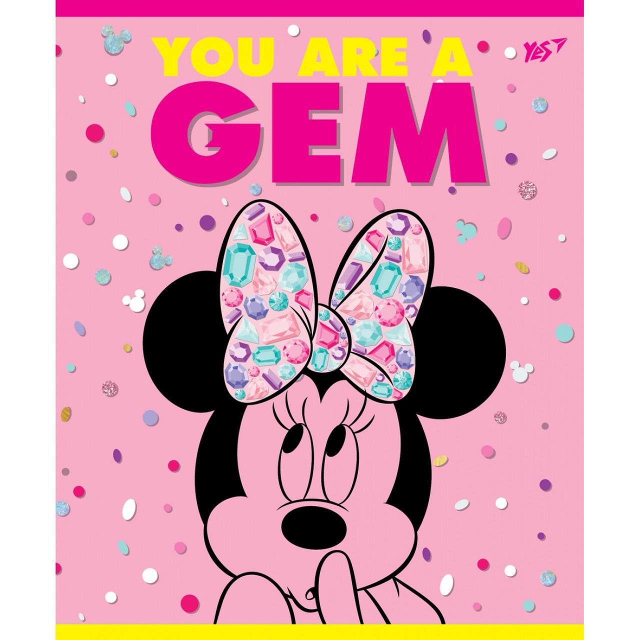 А5/12 косая YES неон+мат. ламинация+софт-тач Minnie Mouse neon, тетрадь (упаковка 10 штук)